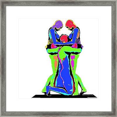 Embrace Of Love Framed Print by Jo Collins