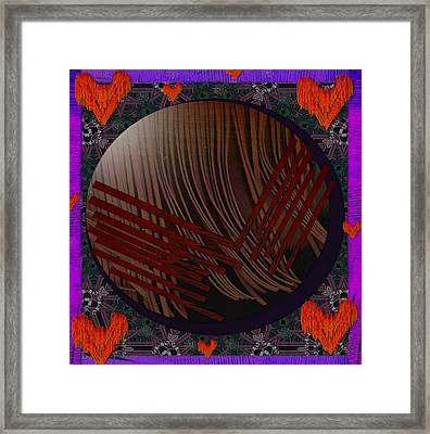 Embrace Our Earth With Love Pop Art Framed Print by Pepita Selles