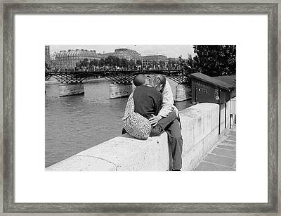 Framed Print featuring the photograph Embrace-paris by Dave Beckerman