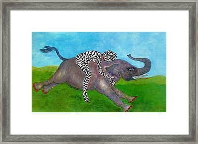 Embrace The Beast Within Framed Print by Suzanne Macdonald