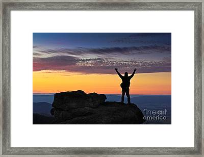 Embrace The Light Framed Print by Everett Houser