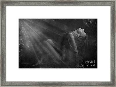 Embraced By The Light.. Framed Print by Nina Stavlund