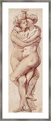 Embracing Couple Framed Print by Rubens