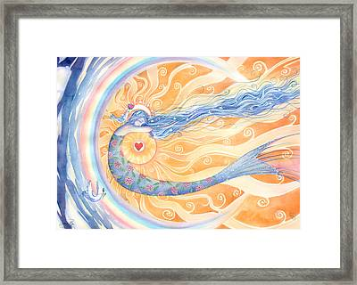 Embracing Love Framed Print by Sara Burrier