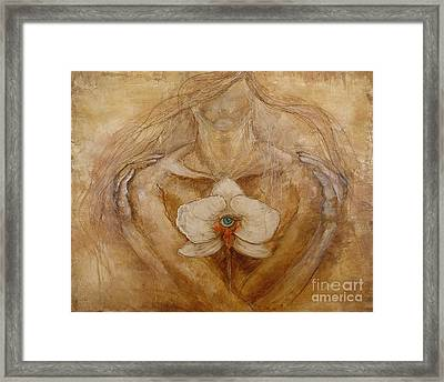 Embracing The Truth  Framed Print by Delona Seserman