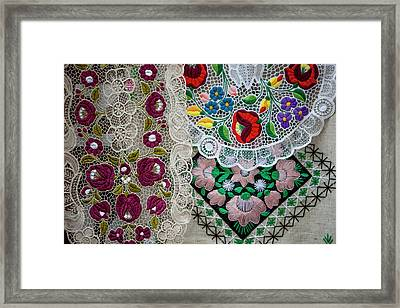 Embroidery Budapest Hungary Framed Print