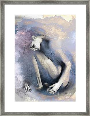 Embryonic II With Mood Texture Framed Print