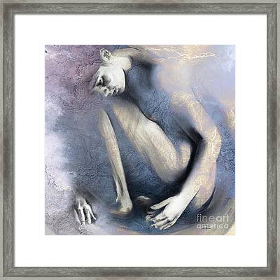Embryonic II. Textured Square Framed Print