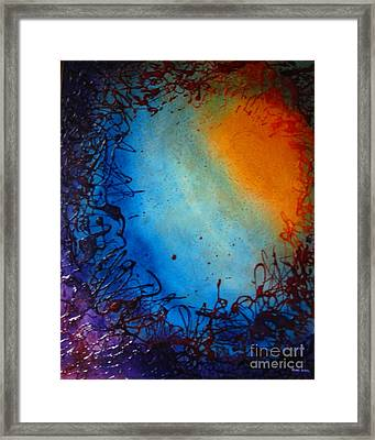 Framed Print featuring the painting Embryonic Journey by Stuart Engel