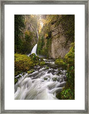 Emerald And Gold Framed Print
