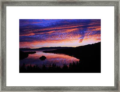 Framed Print featuring the photograph Emerald Bay Awakens by Sean Sarsfield