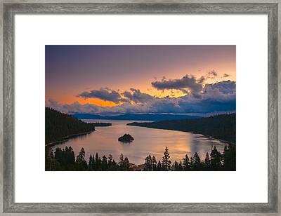 Emerald Bay Before Sunrise Framed Print by Marc Crumpler