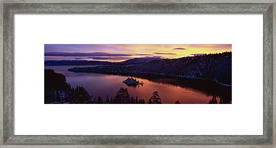 Emerald Bay Lake Tahoe Ca Framed Print by Panoramic Images