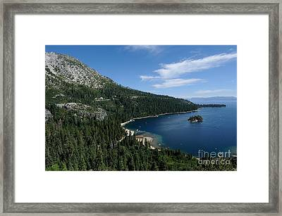 Emerald Bay Lake Tahoe California Usa Framed Print by John Kelly