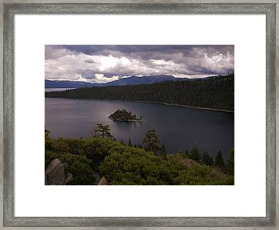 Emerald Bay Lake Tahoe Framed Print
