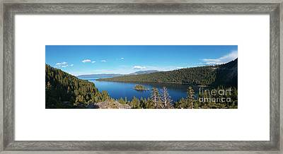 Framed Print featuring the photograph Emerald Bay Lake Tahoe Panorama by Paul Topp