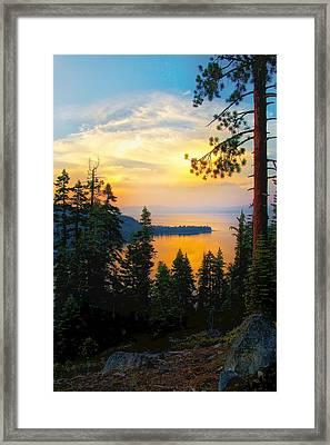 Emerald Bay Sunset Framed Print