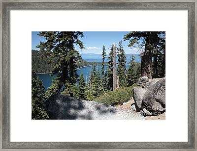 Emerald Bay Vista Framed Print