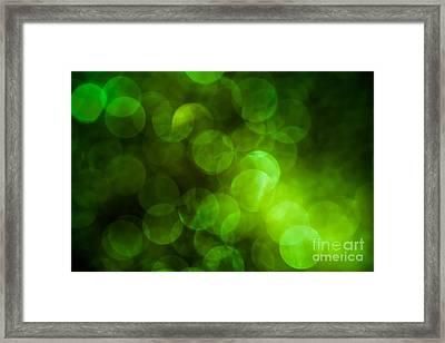 Emerald Bokeh Framed Print