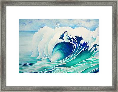 Emerald Break Framed Print