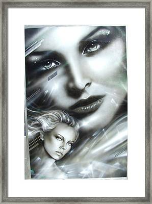 Charlize Theron - ' Emerald ' Framed Print by Christian Chapman Art
