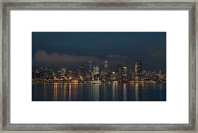 Emerald City At Night Framed Print