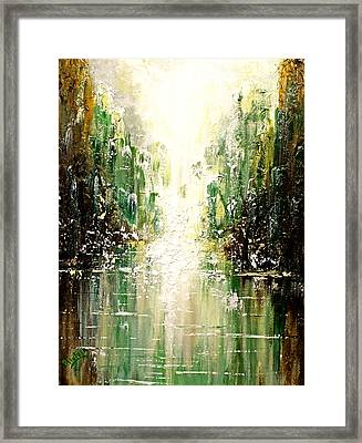 Emerald City Falls Framed Print