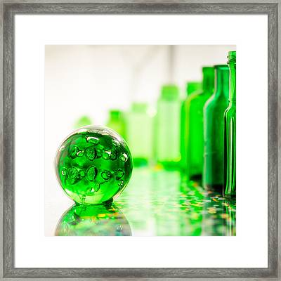 Emerald City I Square Framed Print by Jon Woodhams