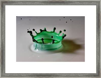 Emerald Crown Framed Print