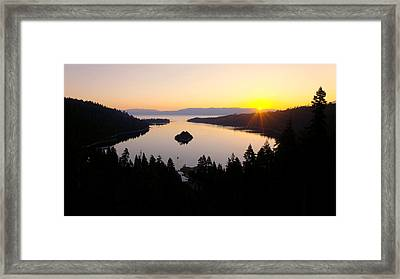 Emerald Dawn Framed Print