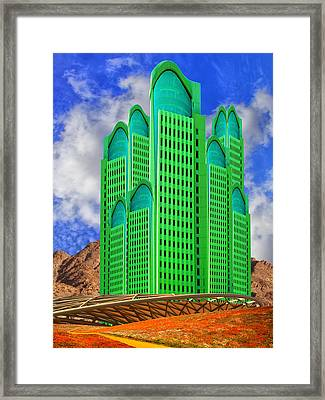 Emerald Desert Palm Springs Framed Print by William Dey