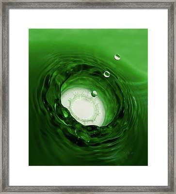 Emerald Drops Framed Print