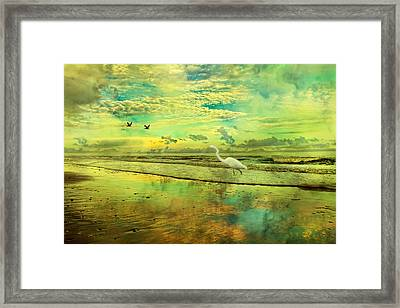 Emerald Evening Framed Print