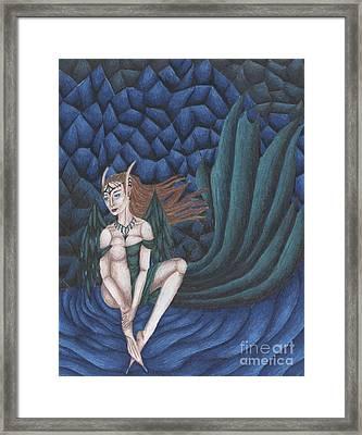 Emerald Eyes Framed Print by Coriander  Shea