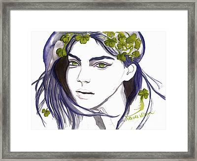 Emerald Eyes Framed Print by D Renee Wilson