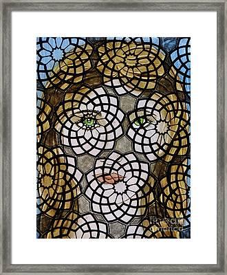 Emerald Eye's Framed Print by Valerie Lynn
