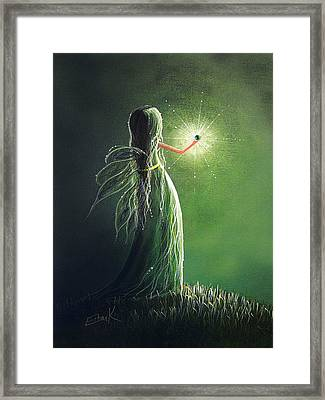 Emerald Fairy By Shawna Erback Framed Print