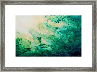Emerald Fall Framed Print