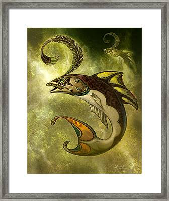 Emerald Fish Framed Print by Jeff Haynie