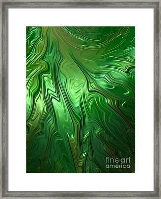 Emerald Flow Framed Print