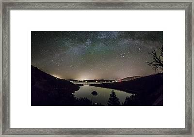 Emerald Galaxy Framed Print by Jeremy Jensen