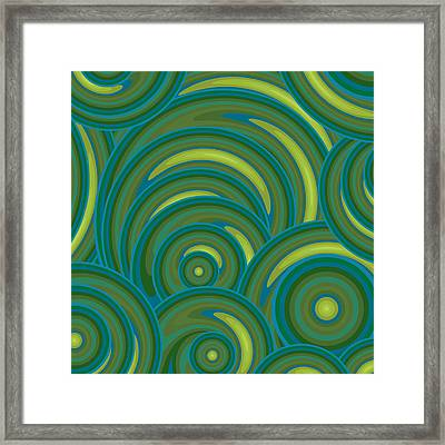 Emerald Green Abstract Framed Print by Frank Tschakert