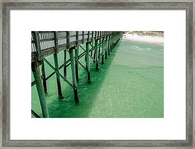 Framed Print featuring the photograph Emerald Green Tide  by Susan  McMenamin