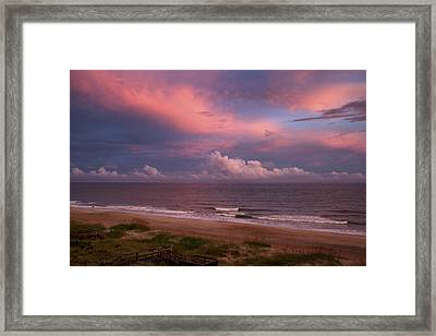 Emerald Isle Sunset Framed Print