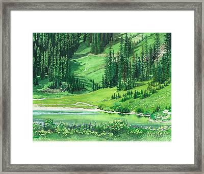 Emerald Lake Framed Print