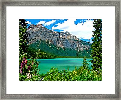 Emerald Lake In Yoho Np-bc Framed Print by Ruth Hager