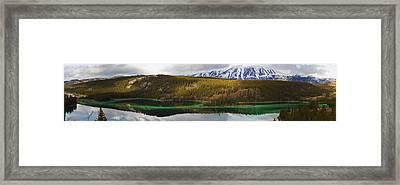 Emerald Lake Panorama Carcross Yukon Framed Print by Blake Kent