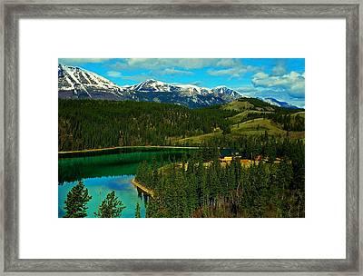 Emerald Lake - Yukon Framed Print by Juergen Weiss