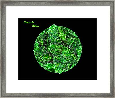 Framed Print featuring the digital art Emerald Moon by R Thomas Brass