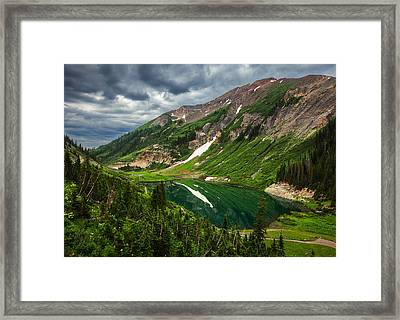 Emerald Morning Framed Print